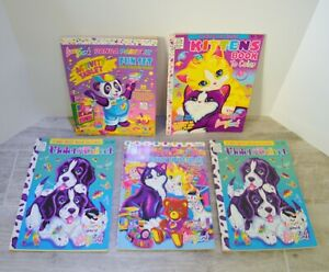 Vintage Lisa Frank Coloring Activity Books Stickers Lot of 5 Dalmatian Press