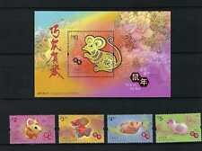 China Hong Kong 2020 New Year Rat Zodiac Stamp + S/S