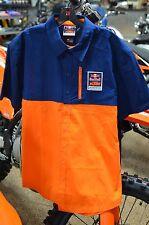 KTM Powerwear Red Bull KTM Performance Team Shirt Orange Blue Men's Size LARGE