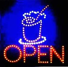 Ultra Bright LED Neon Light Animated Motion Cold Drink Smoothie Open Sign L80