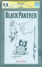 Black Panther 1 CGC 9.8 2X SS Stelfreeze Rodriguez Original art Sketch Variant
