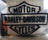 Harley Davidson adesivi logo moto scudetto chopper Made in USA spaziati 4 pz