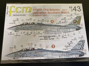 FCM Decals 48043 F-14A Tomcat VF-211 Operation Southern Watch 1/48 XMAS + Lo Vis