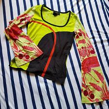 Hübsches Shirt von Custo Barcelona, XS, gelbgrün, rot, schwarz