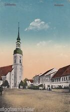 Lübbenau AK 1917 Marktplatz Passant Kirche Brandenburg 1609144