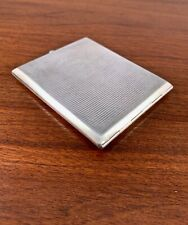 WIMMER & REITH GERMAN 900 SOLID SILVER CIGARETTE CASE TURQUOISE CABACHON NO MONO