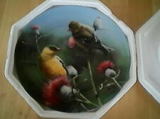 "Edwin M. Knowles The Goldfinch Kevin Daniel 8 1/2"" Collectible Porcelain Plate"