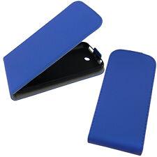 Alcatel One Touch Pop C3 4033D Flip Case Blau Etui Hülle Flipcase Handy Tasche