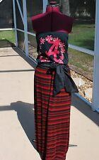 Alabama Crimson Tide Strapless Tube Maxi Dress Sash Upcycled T-Shirts S