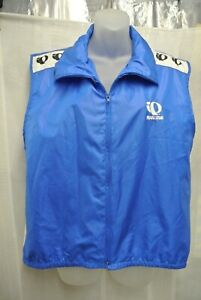 PEARL IZUMI SLEEVELESS JACKET VEST SIZE L BLUE WHITE