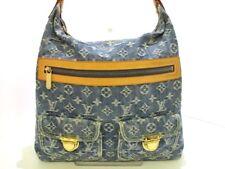 Auth LOUIS VUITTON Monogram Denim Baggy GM M95048 Blue Shoulder Bag SR1025