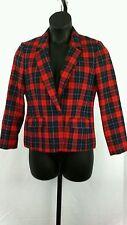 Pendelton Petite Size 8P Women's Red Plaid Jacket / Blazer