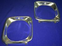 HOLDEN TORANA BATHURST JP LJ GTR XU1 ALUMINIUM HEAD LIGHT SURROUNDS PAIR