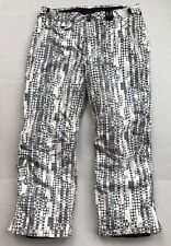 Under Armour Snowboard Ski Pants Mens Sz XL White Gray Domino Dots Snow Winter