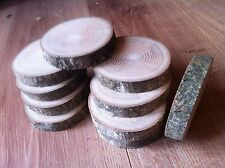 10x Rustic Wedding Decoration Table pieces Log Slice Wood Small Sanded 8-9x2Cm