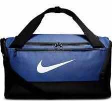 NEW Nike Brasilia Duffel Bag Small Black Navy Blue BA5957-480
