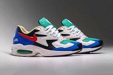 Nike Air Max2 Light SP QS Obsidian White Blue UK 8 US 9 Force 1 90 95 OG 97 98