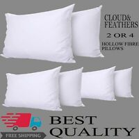 Luxury Poly cotton Hollow fiber Non-Allergenic Bounce Back Pillows Pack of 2 & 4