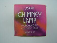 Avon Decanter Chimney Lamp Decanter Patchwork Cologne Mist 2 Fl Oz Original Box