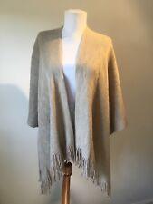 New Designer Pia Rossini Beige Fine Knit Studded Jumper Cardigan One Size