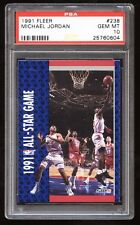 1991-92 Fleer ALL-STAR #238 Michael Jordan Charles Barkley Magic Johnson! PSA 10