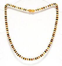Baltic amber adult necklace, multi-color discs beads 45 cm /17.72 inch 6 mm