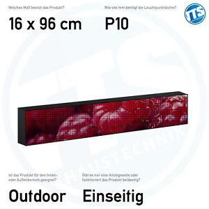 LED Display Laufschrift 12-36 V für KFZ PKW LKW BUS Vollfarbig Außen Innen 10 mm
