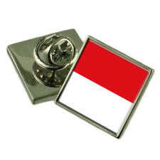 Indonesia Lapel Pin Sterling Silver 925 Badge Engraved Personalised Box