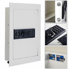 Costway 0.8CF Digital Flat Recessed Wall Safe Home Security Gun Cash Box Locking