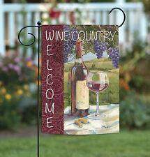 New Toland - Vino Wine Country Welcome - Vineyard Regional Garden Flag