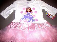 Princess Sofia Party 5T Dress By Disney ! ALL Ocassions  (White/Pink)
