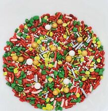 Traditional Christmas Edible Sprinkles Mixed blended Cupcake Topping Decor