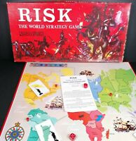 Vintage Risk Family Board Game World Strategy Complete 1963 Parker Red Box