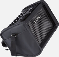 Roland Street Cube Battery Powered Busker Guitar Amp - Black + Roland Carry Bag