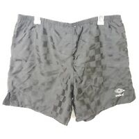 Vintage  Checkered Black Nylon Umbro Shorts Mens Size Large XL Made in Brazil