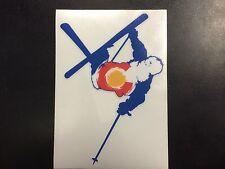 Colorado Skier Flag Sticker