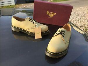Dr Martens 1461 Millerain Khaki beeswax canvas shoes UK 9 EU 43 Made  England