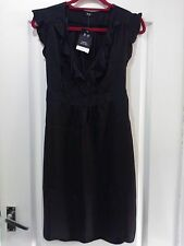 **BNWT** LADIES BLACK SILKY DRESS, SIZE 12