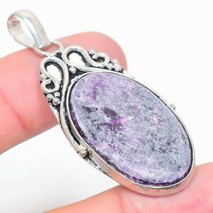 """Purpurite Gemstone Handmade Ethnic Jewelry Pendant 2.21"""" RL-28656"""