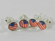 Sterling Silver .925 Stud   Earrings, 2 pair ( 4 pcs)