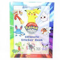 2004 Pokemon Master's Club Ultimate Sticker Book w/ Page of Stickers
