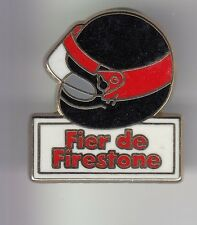 RARE PINS PIN'S .. AUTO CAR PNEU TYRE F1 RALLYE RACE CASQUE NOIR FIRESTONE ~DC