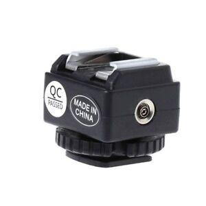 Hot Shoe Converter Adapter PC Sync Socket Port For Nikon Flash To Canon Camera