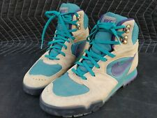 Vintage 1991 Nike Hiking Boots Size 8.5 Suede,Teal & Purple 910406 TH