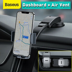 Baseus Universal Car Phone Holder 2 IN1 360° Dashboard Air Vent Clip Mount Stand