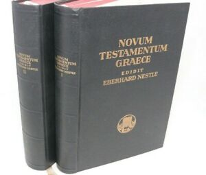Novum Testamentum Graece Nestle Stuttgart 2 Vol Set Bible Greek New Testament