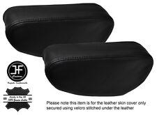 Stitch Nero 2x Sedile Bracciolo in pelle copre Si Adatta Mitsubishi Pajero Shogun 90-01