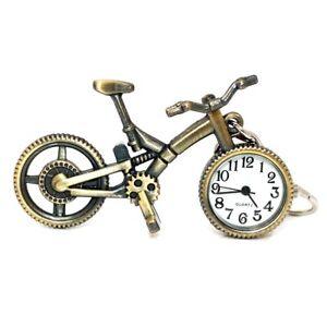 Bike Bicycle Metal Pendant Watch Key Ring Home Deco Pocket Key Chain Watches