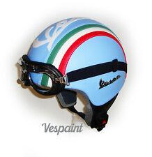 Casco Vintage Vespa ecopelle bandiera Italiana tricolore in pelle s m l xl