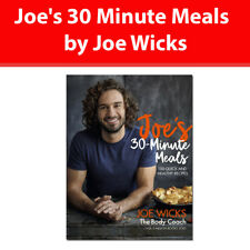 Joe's 30 Minute Meals by Joe Wicks book 100 Quick and Healthy Recipes NEW HB